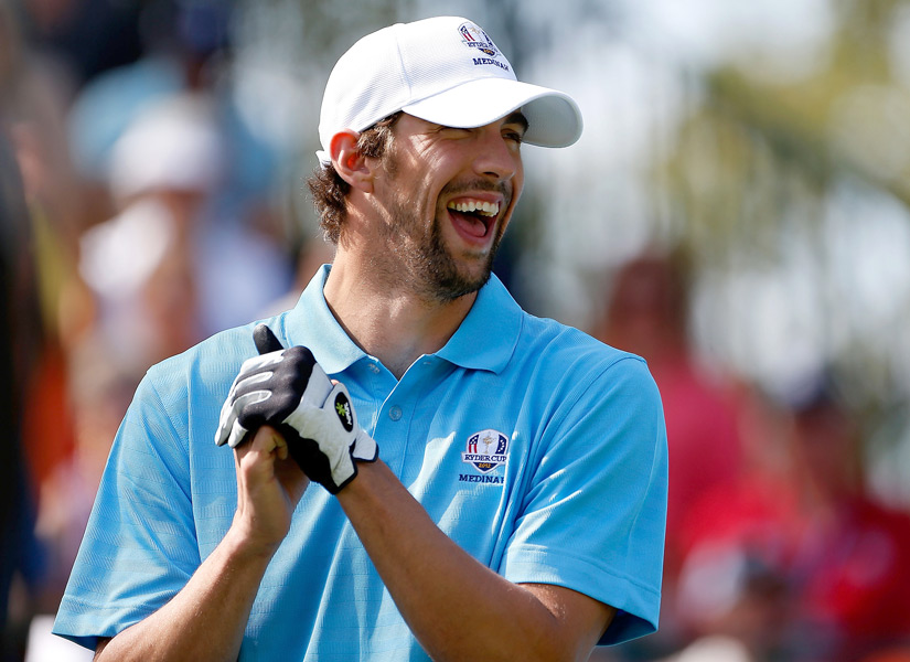 "Retired Olympian Michael Phelps, who is also the newest pupil on ""The Haney Project,"" played with George Lopez, Hal Sutton and Lanny Wadkins."