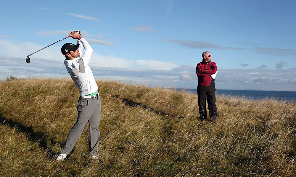 Michael Phelps was back at it again on Friday at the Dunhill Links Championship.