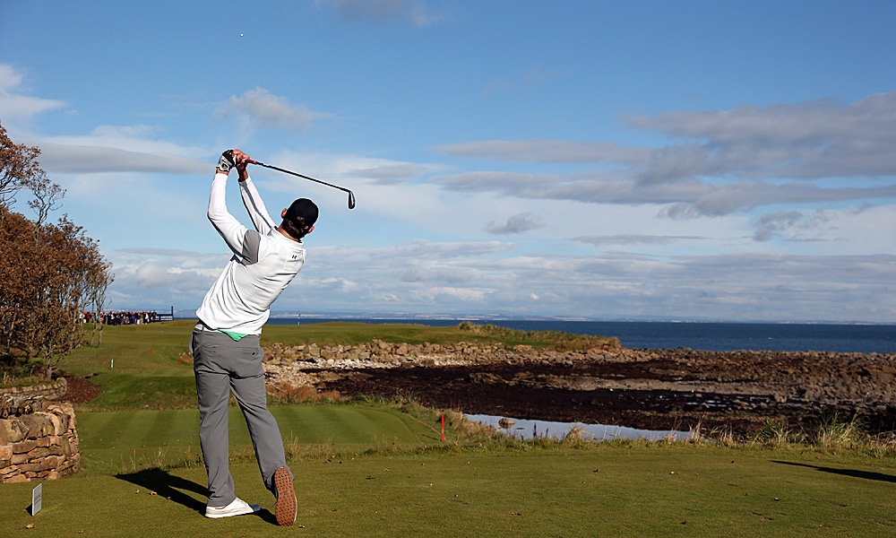 Phelps played at Kingsbarns in the second round.