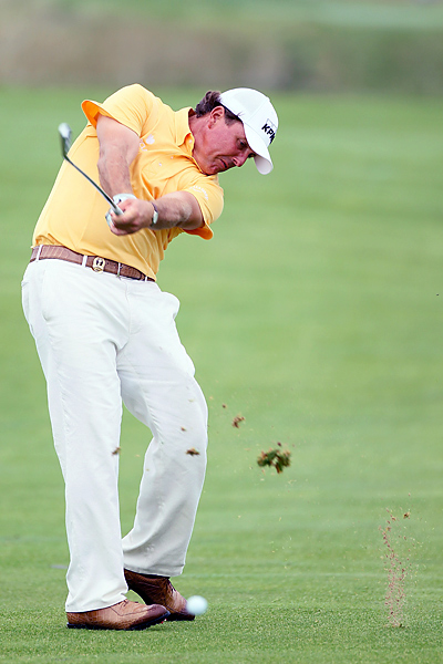 was one under through 11 holes on Thursday, but made two bogies on his final seven Friday morning to finish one over.