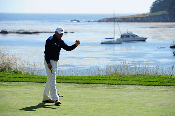 Mickelson managed only one birdie on the front nine at the par-3 fifth.