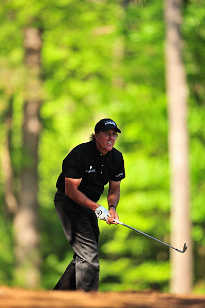 Mickelson got out of trouble several times on Sunday, making huge pars at Nos. 5, 9 and 10.