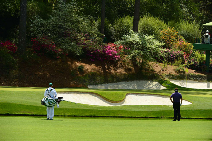 Mickelson found the water on the par-3 12th and made a double bogey.
