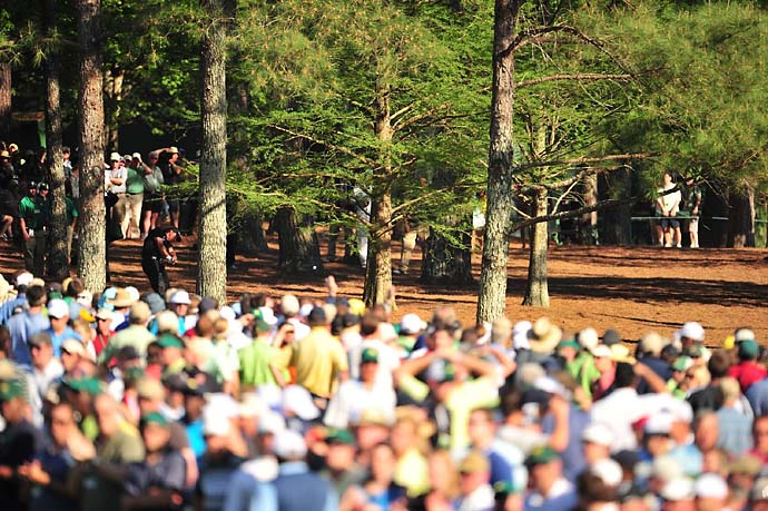 Phil Mickelson has pulled off many daring shots in his career but none was so famous as his second shot from the pinestraw on 13 at the 2010 Masters. Mickelson made birdie on the hole and won the tournament.