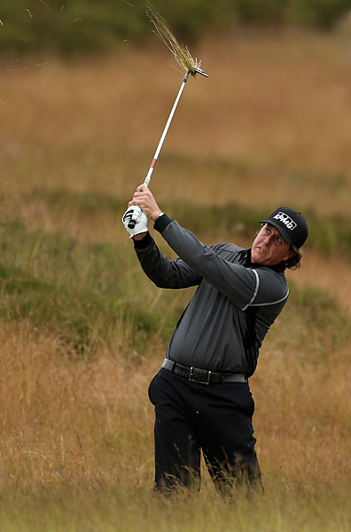 Mickelson is five shots off the lead held by Alexander Noren and Francesco Molinari.