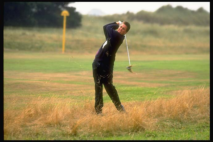Phil Mickelson at the 1991 Walker Cup in Ireland.