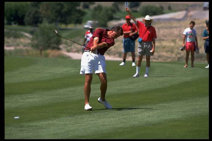 Phil Mickelson at the 1992 NCAA golf finals. Mickelson won the individual national championship three times at Arizona State (1990, '91 amd '93).