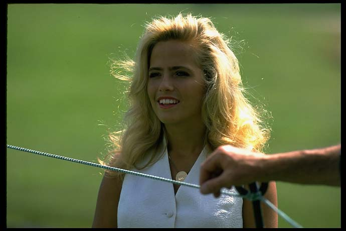 The future Mrs. Mickelson, Amy McBride, at Colonial on May, 26, 1994.