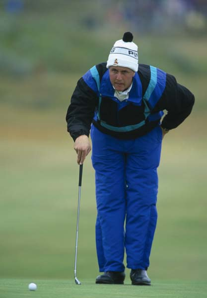 Arizona State student Phil Mickelson bundles up against cold July weather at Royal Birkdale in 1991. Mickelson finished T73 in his first Open Championship.