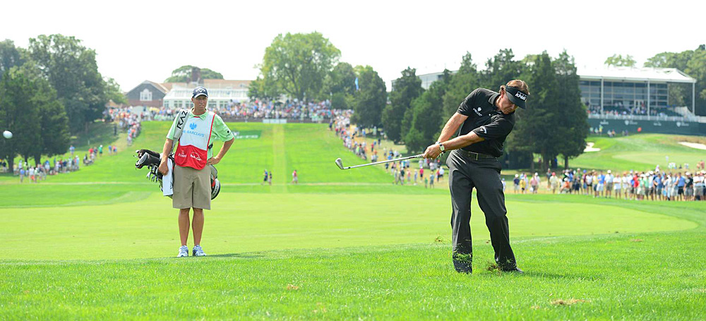 Phil Mickelson was in the hunt until he finished his round with three straight bogeys.