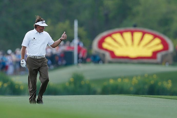 Mickelson is five shots back heading into the final round.