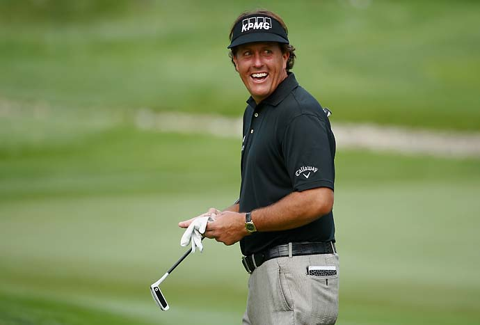 """I don't think I could have caddied for Mickelson when it comes to hitting wedges.""                       --Lee Trevino on Phil Mickelson's short game."
