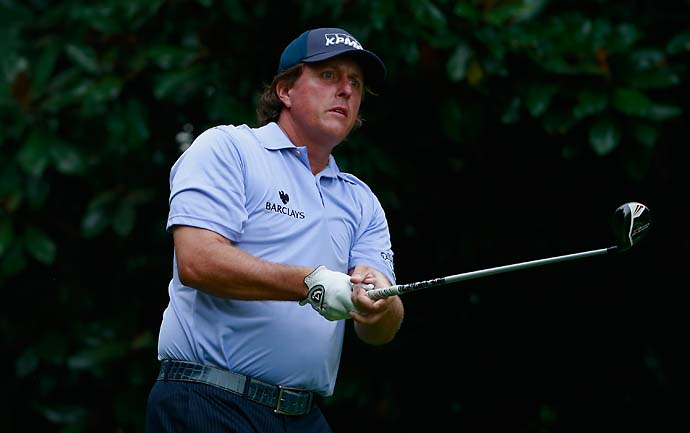 Phil Mickelson appears unlikely to add a FedEx Cup playoff event to his Player of the Year application. He trails Stenson by nine shots after shooting 70 on Saturday.