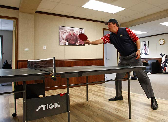 """There were some reports that I took some lessons for pong prior to this tournament, and those reports would be correct.""                     --Phil Mickelson on his Presidents Cup ping-pong preparation."