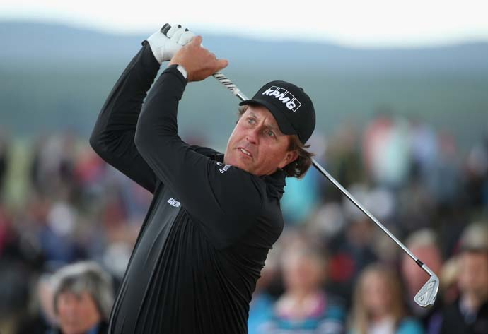 """The way I play probably reflects the way I am off the course.""                       --Phil Mickelson on his risk-taking style of play."