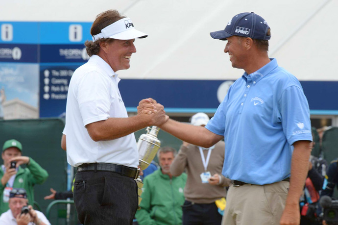"Mickelson credited his caddie Jim ""Bones"" Mackay: ""Bones was exceptional,"" Mickelson said. ""This is a really special time and as fulfilling a career accomplishment as I could ever imagine."""