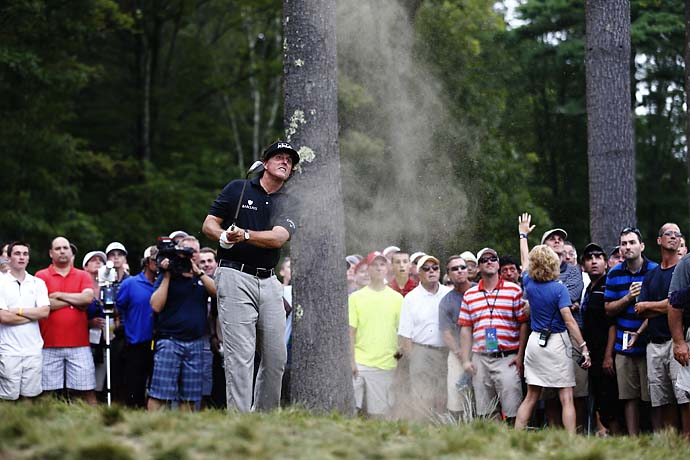 """I could describe it, but nobody is going to understand that.""                       --Phil Mickelson on his 100-yard flop shot from patchy rough to inside 3 feet on Saturday."