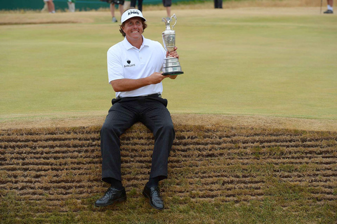 "A week later, Mickelson birdied four of the last six holes to capture his fifth major championship with a three-shot win at the Open at Muirfield. ""This is just a day and a moment that I will cherish forever,"" he said. ""This is a really special time, and as fulfilling a career accomplishment as I could ever imagine."""