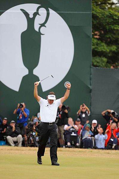 Phil Mickelson fired a five-under 66 Sunday to win his first Open Championship.