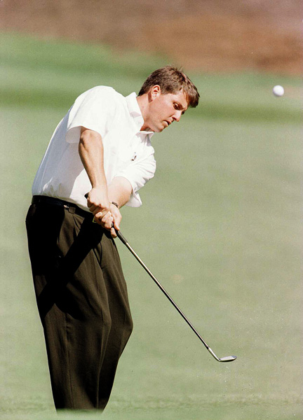 Mickelson finished in third place at the 1996 Masters, but he was six shots behind winner Nick Faldo.