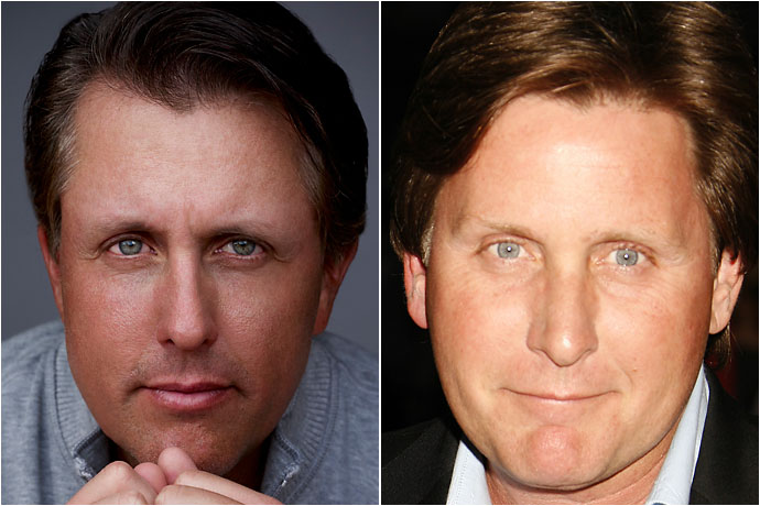 Phil Mickelson and Emilio Estevez