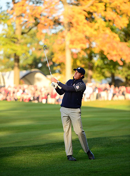 Mickelson is playing in his ninth Ryder Cup.