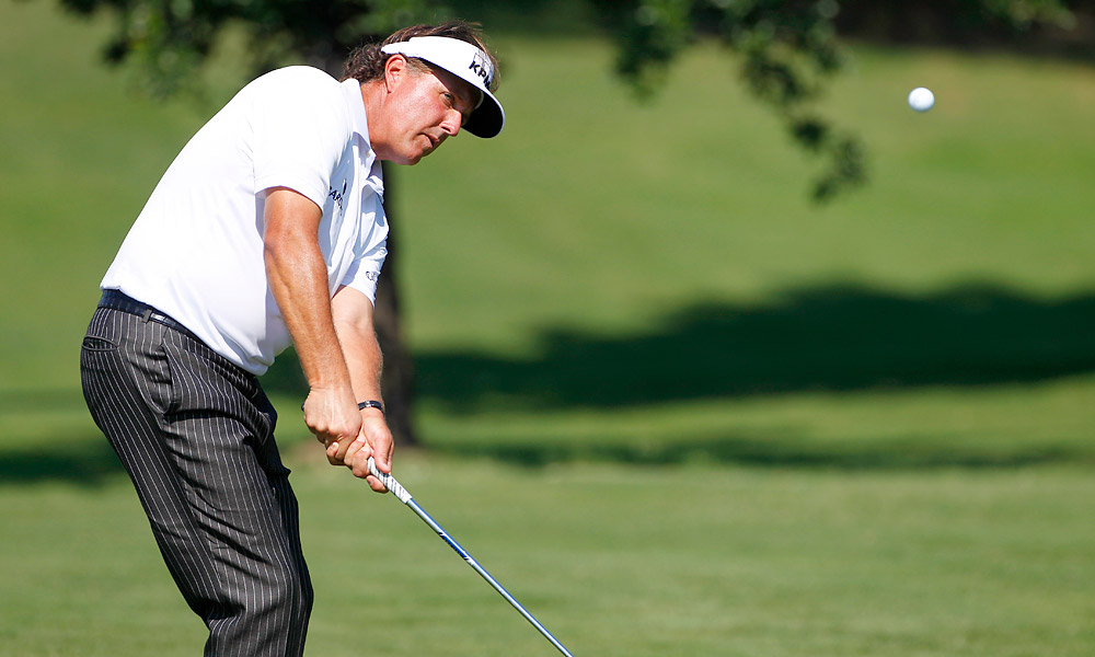Phil Mickelson shot an even-par 70 in the first round of the Byron Nelson.