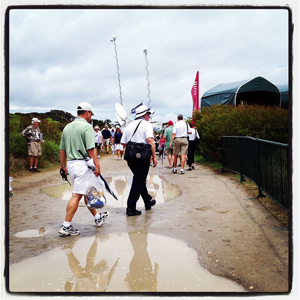 The weather could make things tough for fans at the Ocean Course.