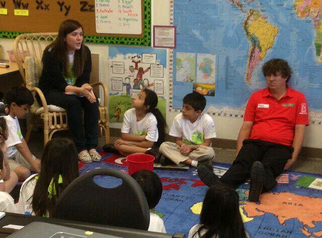 "The photo that started the Dufnering craze. Jason Dufner was at a Dallas school on March 28 to promote the Byron Nelson Championship and help kids ""learn to focus."""