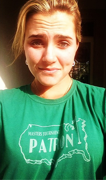 @lexi                        Got my Masters shirt on for the @the_masters this week :) #goodlucktotheguys