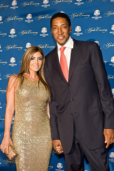 Former Chicago Bulls star Scottie Pippen and his wife, Larsa.