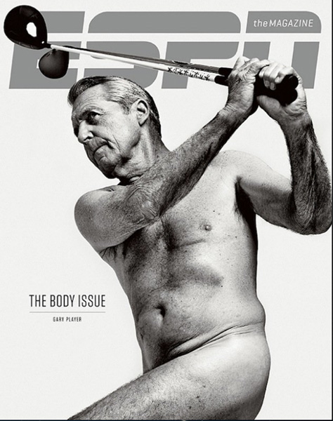 """It's like a piece of wood.""                   --ESPN The Magazine's naked cover model Gary Player on his abs at age 77."