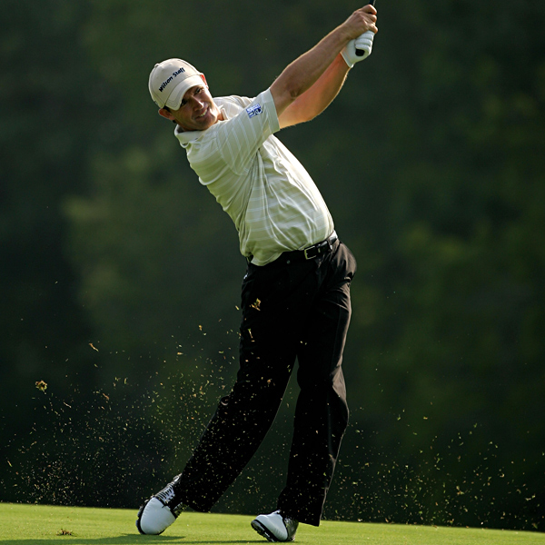 Padraig Harrington made four birdies, but he bogeyed two par 5s to shoot 70. He is two over for the tournament.