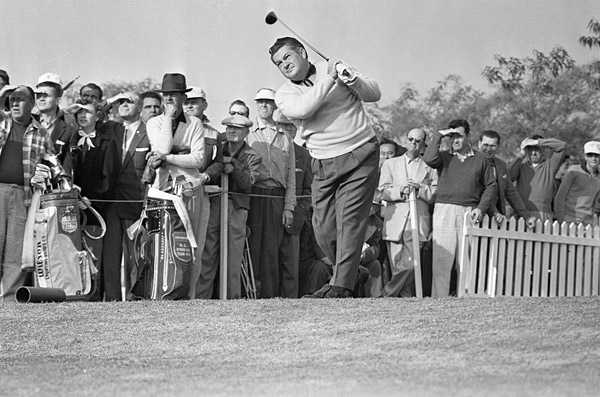 "Porky Oliver, 16, 1953 Bing Crosby Pro-Am, par 3 16th hole, Cypress Point Golf Club                       Oliver actually won here in 1940 before making his infamous 16 in 1953. One of the great forgotten characters of the game, Oliver lived up to his name, fluctuating between 220 and 270 pounds. According to The Seattle Times: ""As a PGA Tour player, the portly 5-foot-9-1/2 Oliver was known for his prodigious appetite. He traveled from tournament to tournament in a station wagon that had two refrigerators. Sometimes during a round, he would eat four hotdogs at a sitting."""