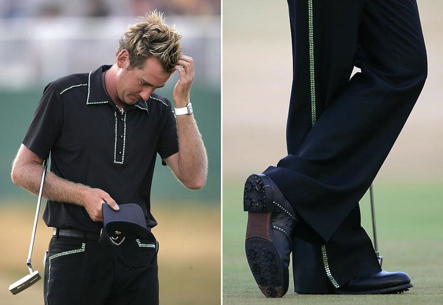 The British golfer Ian Poulter, contemporary golf's reigning dandy, is at his best, sartorially, at the Open. He dressed as a rhinestone cowboy for the 2006 tournament at Hoylake. Even his shoes had rhinestones.