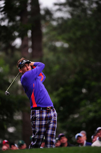 Ian Poulter had a good round going until a double bogey on 16. He shot even par.