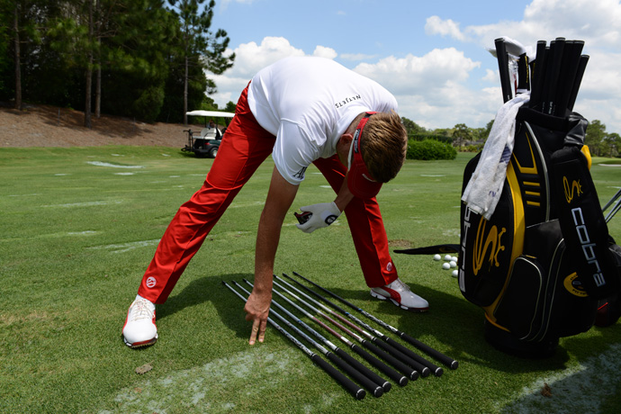 Poulter doesn't have to go far to work on his game -- the driving range at Lake Nona Golf Club is only 500 yards from his house.