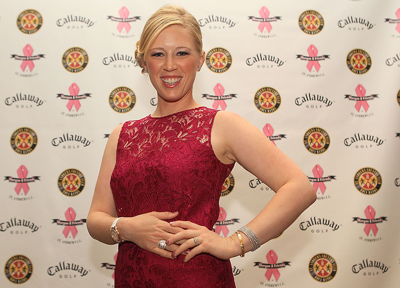 Morgan Pressel at the 2012 Morgan and Friends opening evening event at the St. Andrews Country Club in Boca Raton.