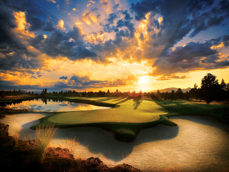 Pronghorn (Nicklaus Course) -- Bend, Ore.Formerly a private real estate development, Pronghorn now offers limited public play, although few will take on the 7,379-yard tips. I'd relish watching the pros try it, especially amid Bend's dry, perfect August climate, at 3,200 feet above sea level with views of nearby Mt. Bachelor.Ranked No. 38 on Golf Magazine's Top 100 Courses You Can Play