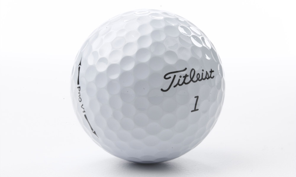 Titleist Pro V1                       First used in October 2000, the Pro V1 marked a dramatic change in golf ball construction. Previously, most pros and better amateurs used balls with wound cores, but the Pro V1 offered a solid core with a multi-layer covering. The Pro V1 was an instant success: the first week it was in use, Billy Andrade used it to win the Invensys Classic at Las Vegas on the PGA Tour. Since then, the Pro V1 family of balls has accounted for over 1,700 worldwide professional victories.