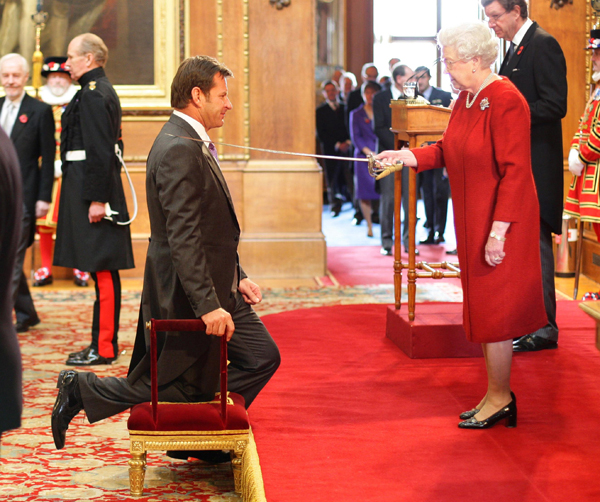 Sir Nick Faldo, a six-time major champion, was knighted by Queen Elizabeth II in 2009.