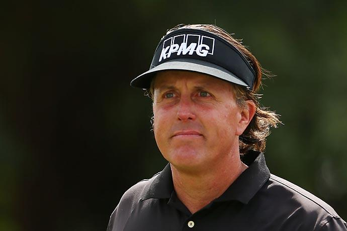 """What kind of dumbass question is that?""                       --Phil Mickelson on being asked, ""So Phil, you looking forward to Augusta?"""