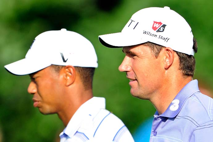 """He could be playing better than he was playing in 2001, but he doesn't have as much as of a margin over the field as he had in 2001. There are players who are certainly capable of matching him on his A game.""                     --Padraig Harrington on Tiger Woods.                                          http://www.asapsports.com/show_interview.php?id=88995"