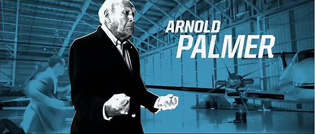 """I did my own stunts, yes. I haven't told anybody this, but I was an instructor in judo and personal conduct in the service, so I know a little bit about it, and it was fun for me to get back into it.""--Arnold Palmer on fighting ninjas in his new EA Sports commercial with Tiger Woods."