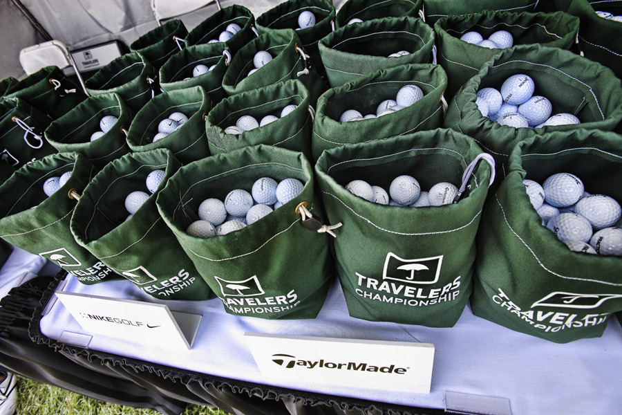 On the range, players can choose from every major ball brand.