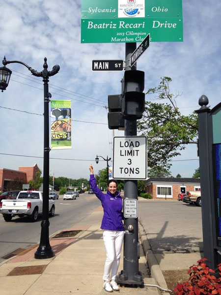 @BeatrizRecari: So cool!! I have my own drive! Thanks so much @MarathonLPGA #mediaday