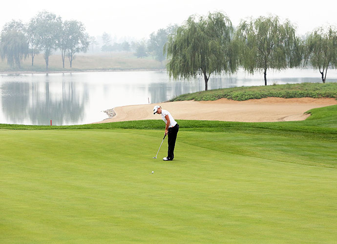 Reignwood Pine Valley, Nankou, Beijing, China                       Situated 35 miles west of Beijing, this Jack Nicklaus-designed, 36-hole complex was the site of a recent LPGA event, where Mirim Lee edged Stacy Lewis (pictured). Sprawling bunkers, vast lakes, mountain backdrops and stellar views of the Great Wall at Badaling provide the eye candy.