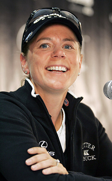 "Sorenstam shocked the golfing world before the start of the Sybase Classic when she announced she will retire at the end of the season to focus on other interests in her life. ""I have other priorities,"" she said. ""A lot of dreams I want to follow. I'm getting married next January, and I want to start a family and continue to build the Annika brand of businesses, including my academy, my foundation, and my golf course design projects."""