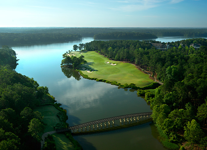 Ritz-Carlton Lodge, Reynolds Plantation, Greensboro, Ga. 706-467-0600, ritzcarltonlodge.com: This boutique-sized property with massive golf offerings slipped out of our Top 10 in 2012. Now under new ownership, Reynolds Plantation is back in the Platinum elite. It boasts a lovely lakeside location midway between Atlanta and Augusta -- a stay would be the perfect capper to Masters week. The renovated rooms emphasize gracious Southern stylings, and the restaurant, Georgia's Bistro -- with timber ceiling beams and a baronial fireplace -- has been polished up. And they haven't forgotten the golf. A reworking of the Landing course by original architect Bob Cupp, with former Augusta National superintendent Billy Fuller, has restored The Ritz at Reynolds to its elevated status.