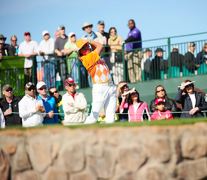 Rickie Fowler opened with a solid three-under 68.Rickie Fowler matched Dufner's 68.